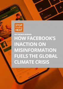Front cover of facebook climate misinformation report